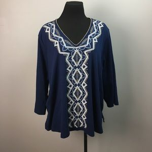 Alfred Dunner 3/4sleeve Blouse